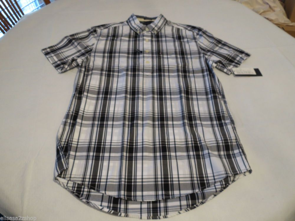 Men's Tommy Hilfiger shirt XXL 2xlg Custom Fit  Popover 7853539 Midnight 403 #TommyHilfiger #Popover12button