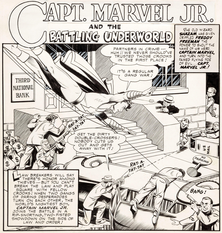 Kurt Schaffenberger Master Comics #121 Complete 14-Page Captain | LotID #50015 | Heritage Auctions