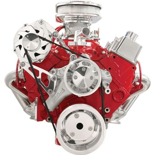 Billet Specialties 6 Rib Serpentine Conversion Pulley Kit Sbc P N Fm2110pc Silver Rv Parts And Accessories Billet Aluminum Pulley