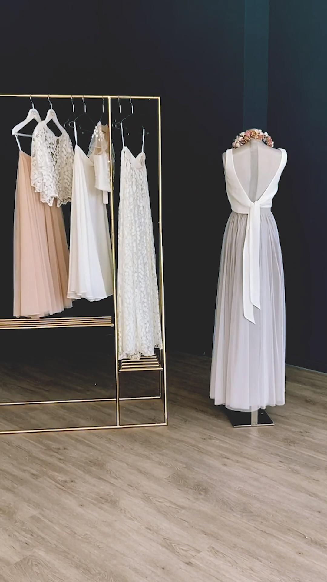 Brautkleider zweiteilig aus Braut Top mit Spitze ...