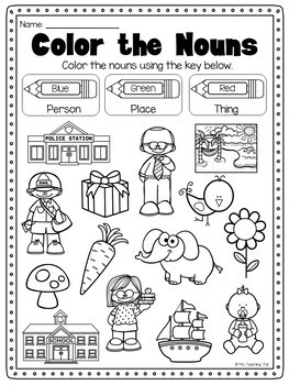 Nouns Printable Worksheet Pack Kindergarten First Second Grade Nouns Worksheet Kindergarten Nouns Kindergarten Nouns Worksheet