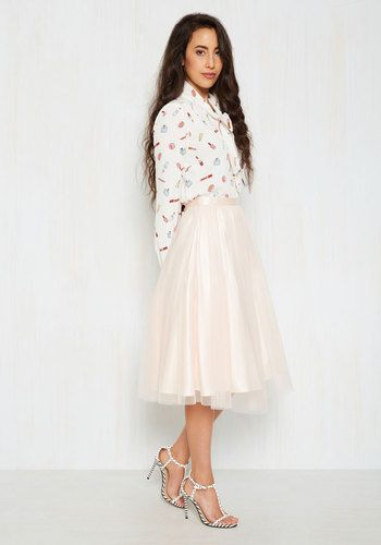 Pointe of View Skirt in Blush, @ModCloth