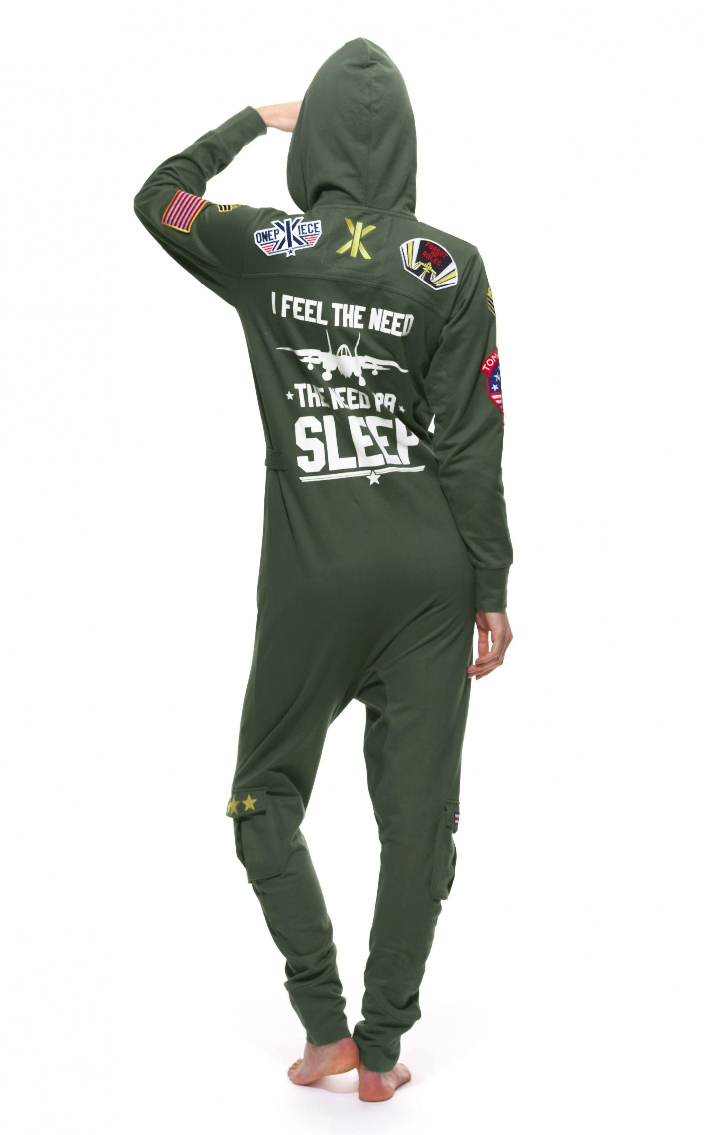 ea78462927 Aviator Onesie Jungle Green - Womens