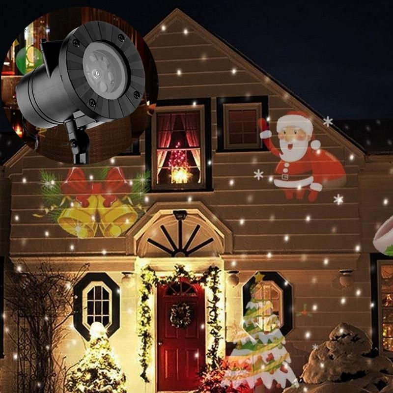 Holiday Christmas Decorations Waterproof Outdoor LED Stage Lights 12