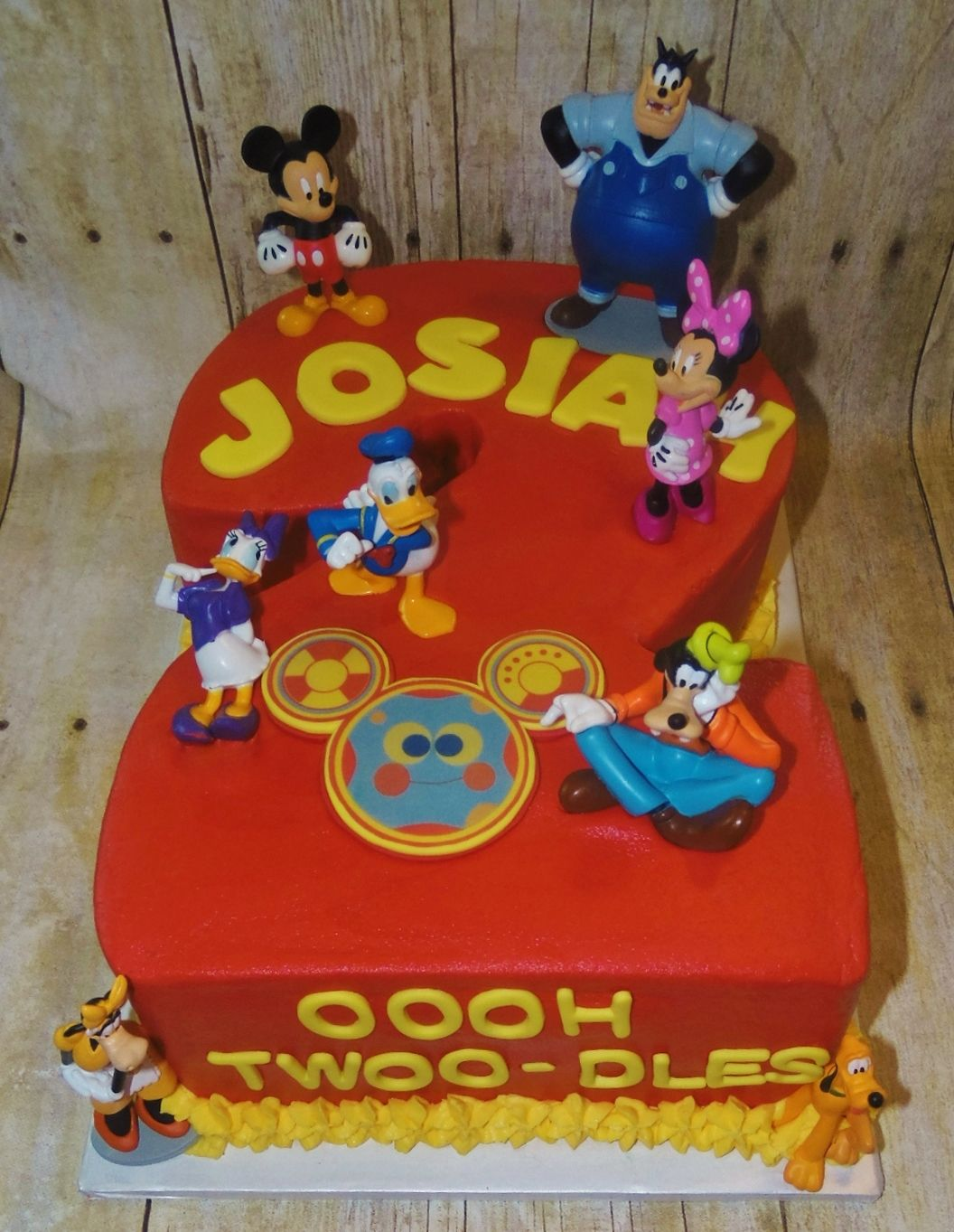 Surprising Mickey Mouse Clubhouse Number 2 Birthday Cake Mickey Mouse Personalised Birthday Cards Paralily Jamesorg