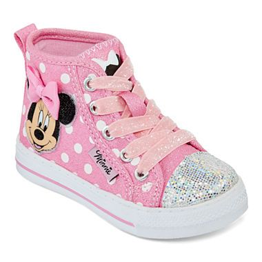 jcpenney  disney® minnie mouse girls hitop sneakers