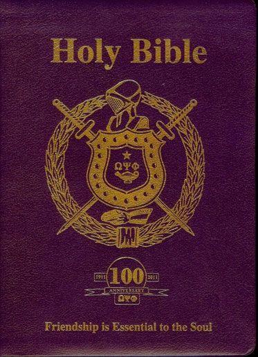 Omega Psi Phi Centennial Edition Bible Thee Omega Psi Phi