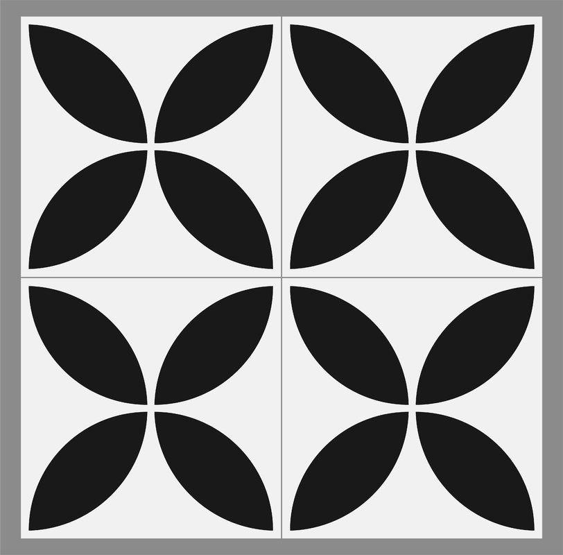 Gallery 8 Quot X 8 Quot Ceramic Field Tile In Black White In 2019