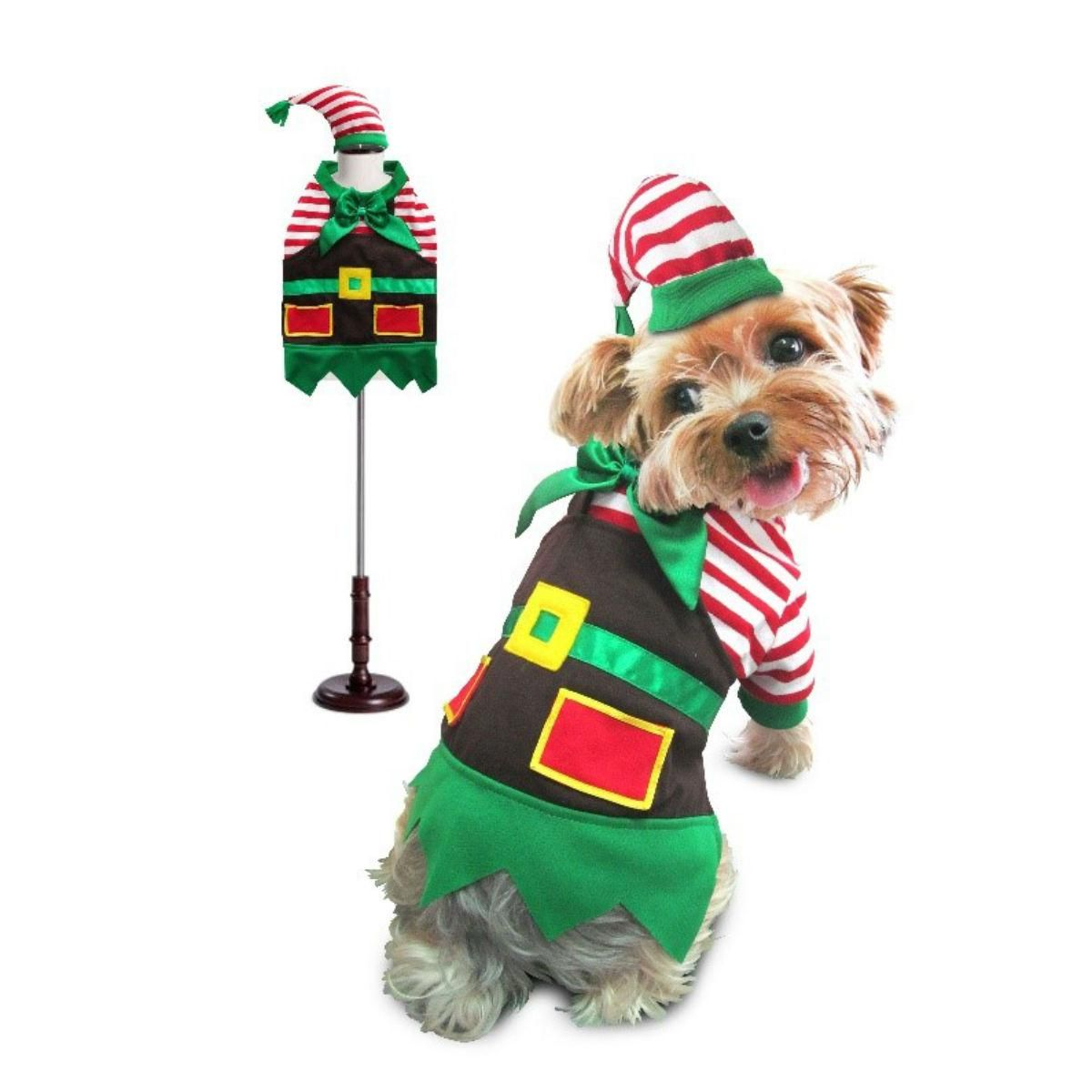 Santa S Elf Dog Costume Pet Costumes Christmas Dog Dog Costumes