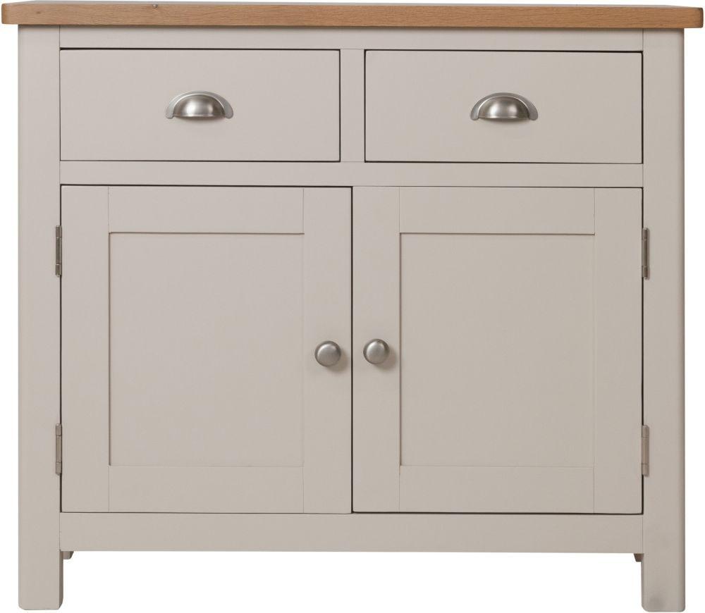Photo of Portland Dove Grey Painted 2 Door 2 Drawer Sideboard