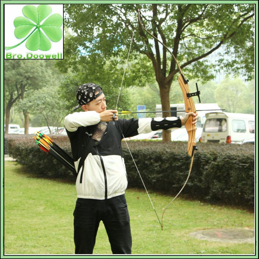 New 45lbs Outdoor Archery Takedown Right Hand Recurve Bow Longbow Hunting Target