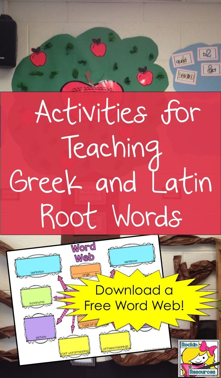 medium resolution of There are some great ideas to teach Greek and Latin roots