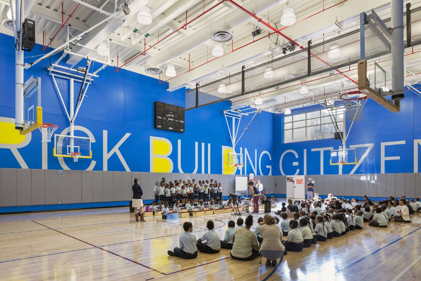 Gym Design Education Projects Win Aia Design Awards Architecture Schools Aec Edtech Charter School School Building Design Gym Architecture