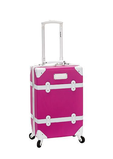 "Awesome Rockland Luggage 20"" Carry Spinner Hardcase Expandable Vintage Trunk TSA Pink Pinterest Review - Modern trunk luggage Style"