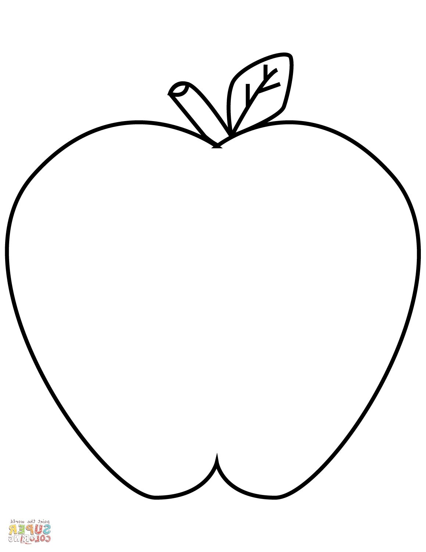 Coloring Worksheet Apple
