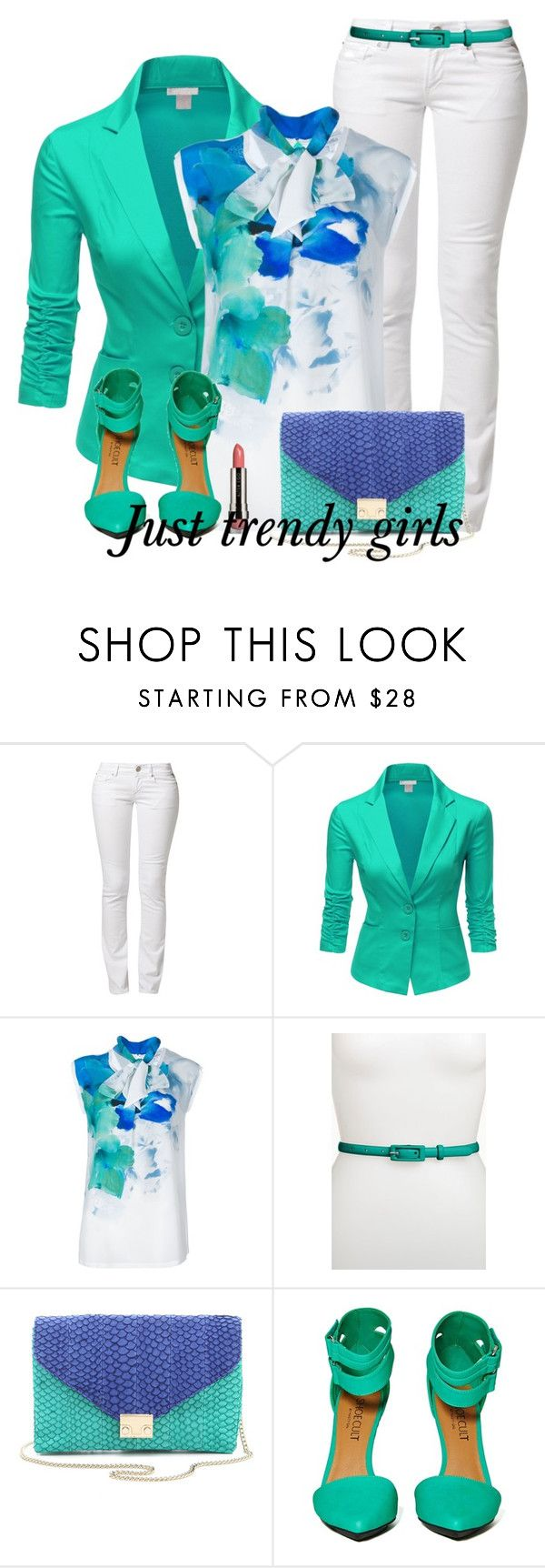 """""""block colors"""" by justtrendygirls ❤ liked on Polyvore featuring Replay, Doublju, MaxMara, Another Line, Loeffler Randall and LORAC"""