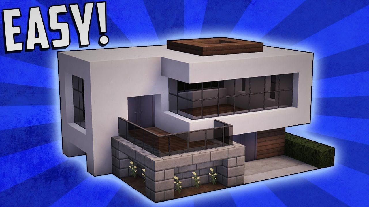 Minecraft how to build a small modern house tutorial 16 modernhomedesign