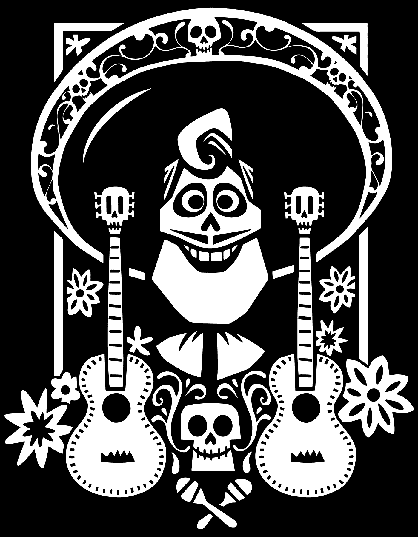 Coco Coloring Pages Disney Coloring Pages Coloring Pages Skull