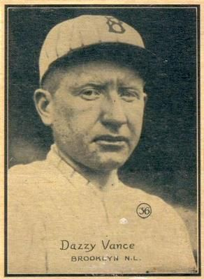 1931 W517 36 Dazzy Vance Front Dazzy Vance Sports Cards Baseball Cards