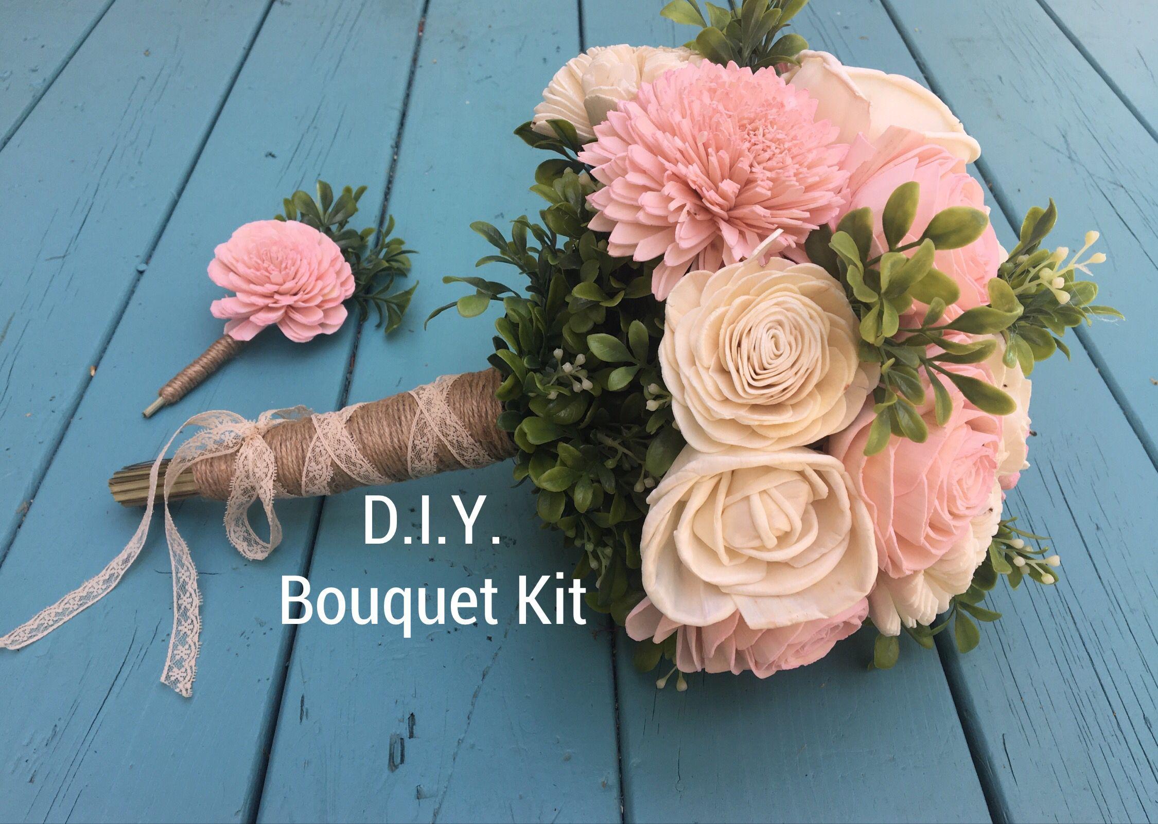 Create Your Own Bouquet Wood Flower Bouquet Diy Bouquet