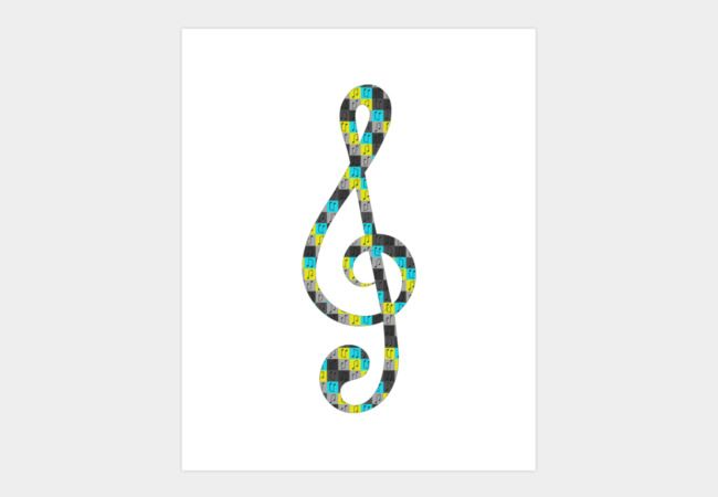 Repeating musical pattern No.4, Collection No.1 Art Print - Design By Humans