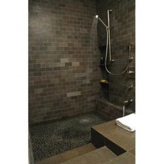 Love the idea of a sunken tub/shower combo!