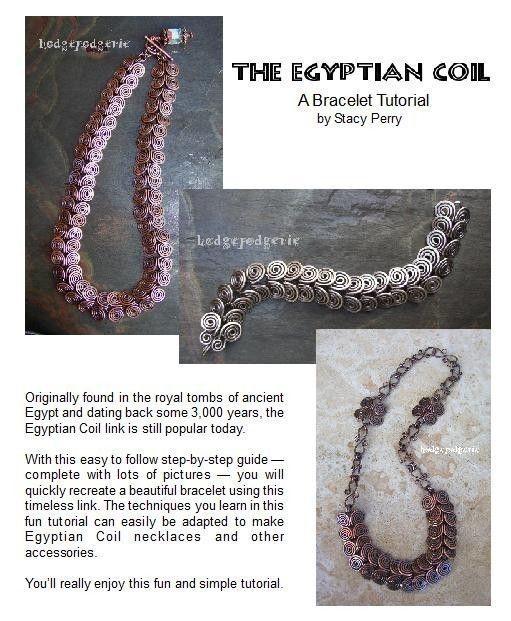 Egyptian Coil Bracelet Tutorial | Pinterest