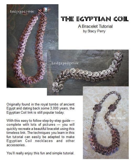 Egyptian Coil Bracelet Tutorial | Armband Tutorial, Armbänder und Draht