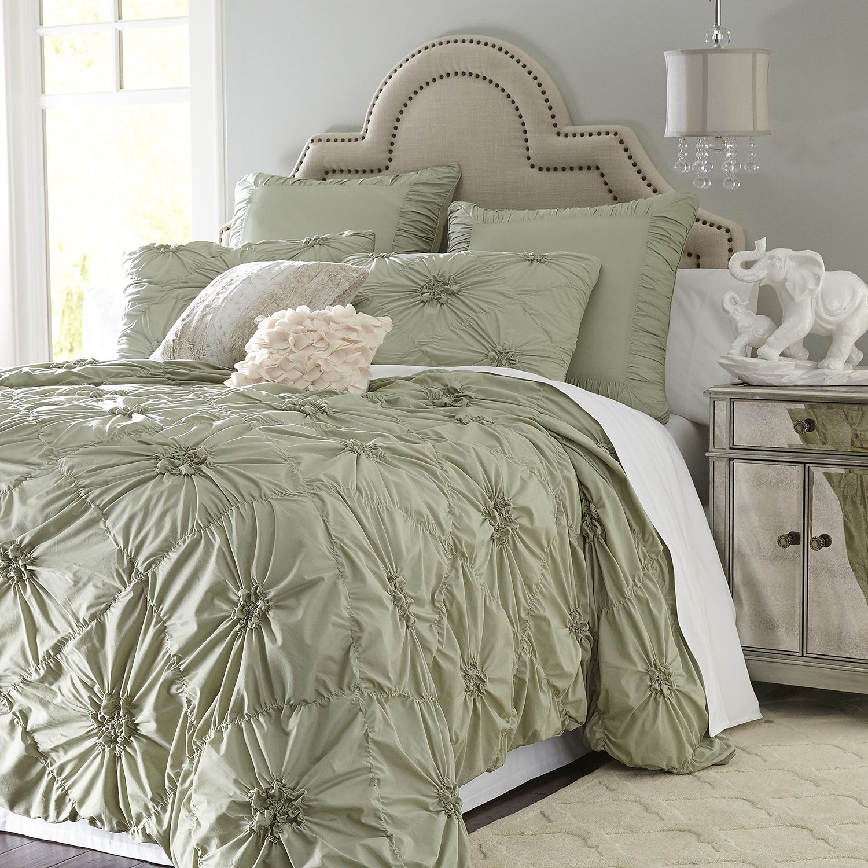 Green Savannah Duvet Cover & Sham Sage Cotton