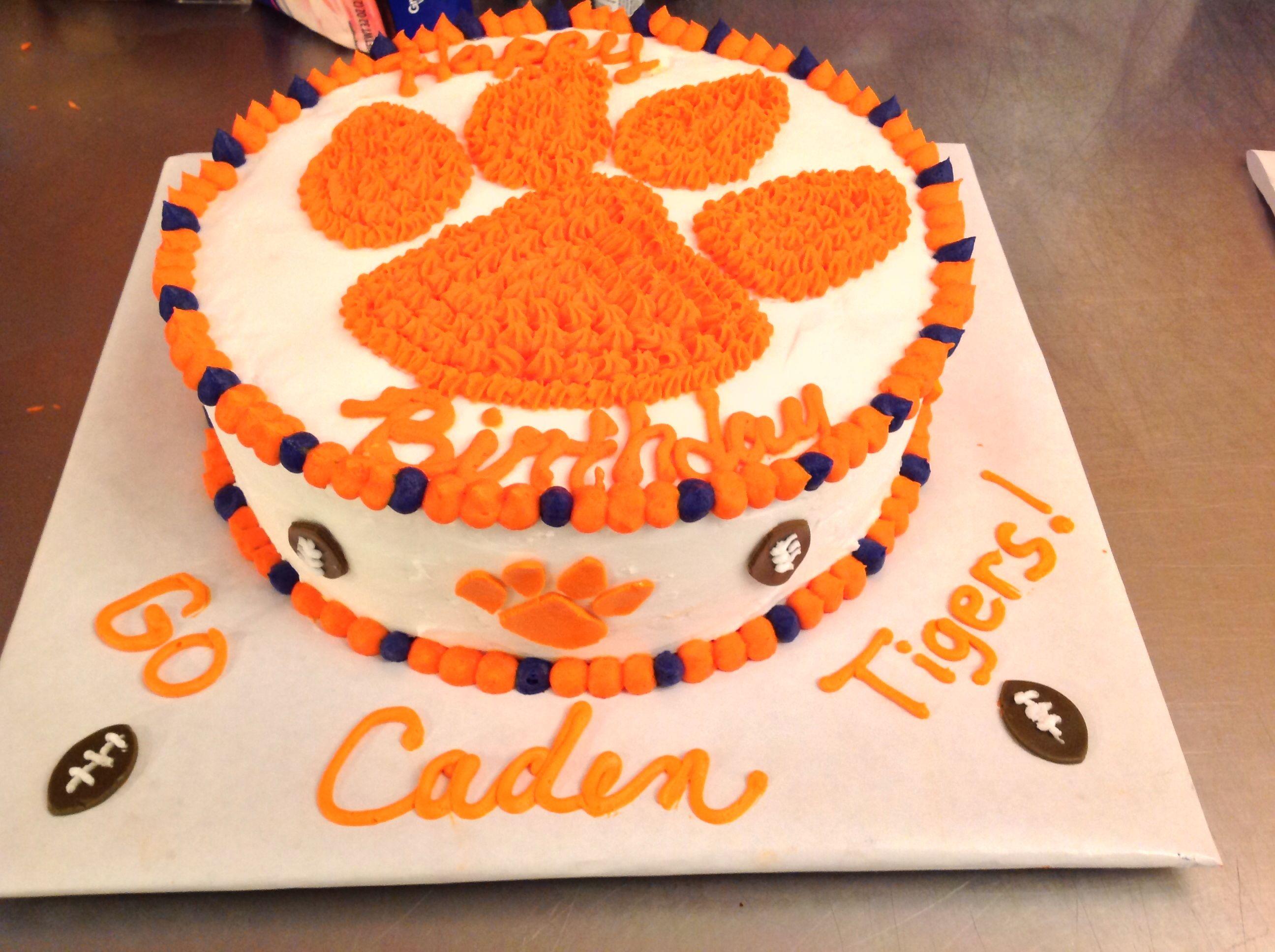 Clemson Tigers Birthday Cake My Cakes Pinterest Birthday Cakes