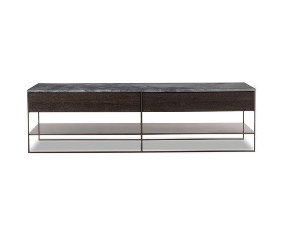 Calder Bronze Console by Minotti | Sideboards