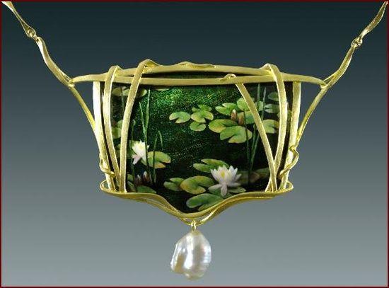 """""""Through The Reeds"""", Necklace by Larissa Podgoretz"""