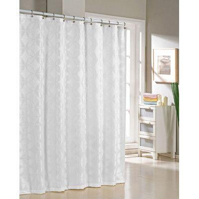 Dr International Bayonne Jacquard Shower Curtain Color White