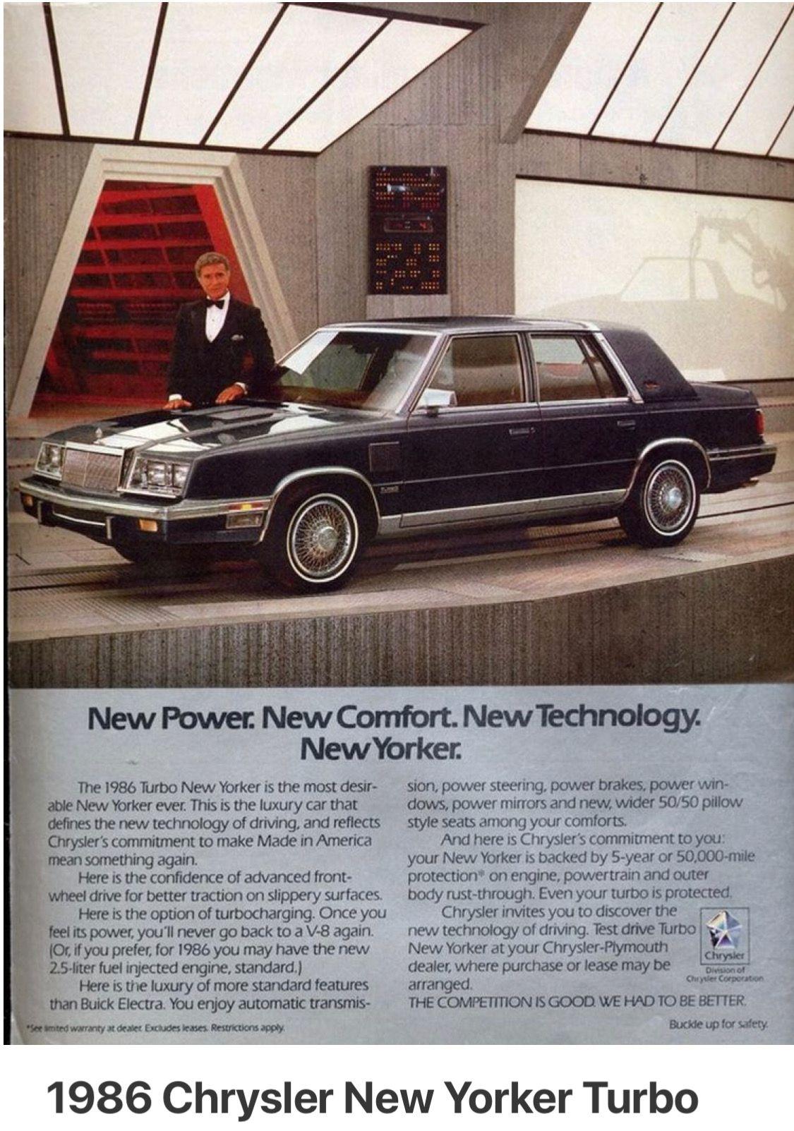1986 Chrysler New Yorker Turbo With Ricardo Montalban Chrysler