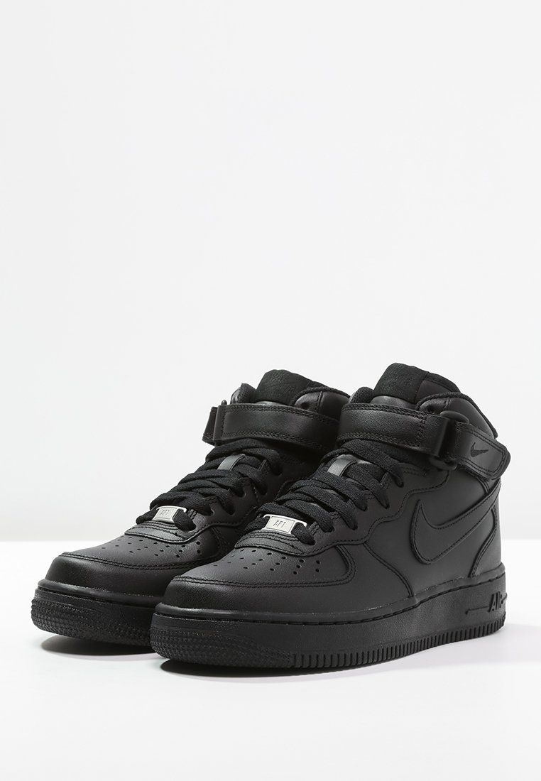 Nike Sportswear AIR FORCE 1  07 MID - Sneaker high - black - Zalando ... b380229a4
