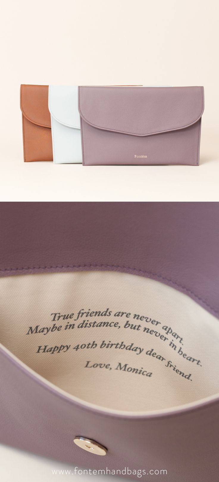 50th birthday gifts for best friend, Unique birthday gifts for women, 30th 40th 60th, Personalized best friend birthday gift, Leather clutch