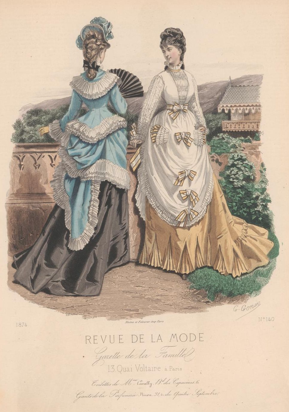 revue de la mode 1874 1874s fashion plates pinterest bustle victorian and victorian fashion. Black Bedroom Furniture Sets. Home Design Ideas