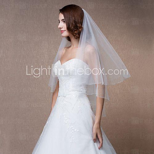 Wedding Veils Round One Tier - USD $9.99