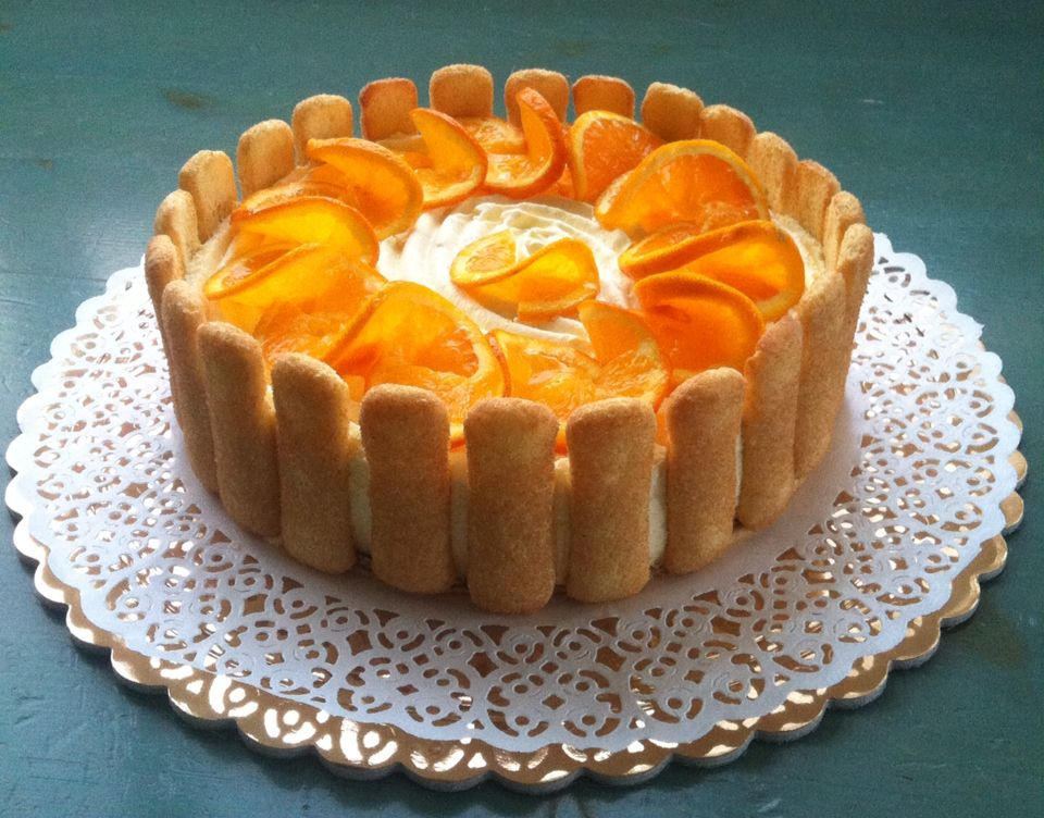 Bavarian cake with orange