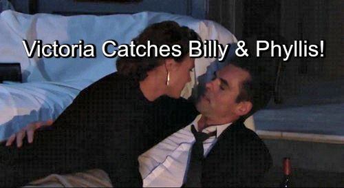 The Young and the Restless (Y&R) Spoilers: Victoria Catches Billy and Phyllis Cheating, Making Love – Catfight Coming
