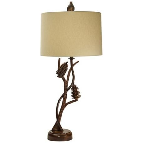 Natural Light Pine Forest Metal Table Lamp 3f937 Lamps Plus Metal Table Lamps Table Lamp Lamp