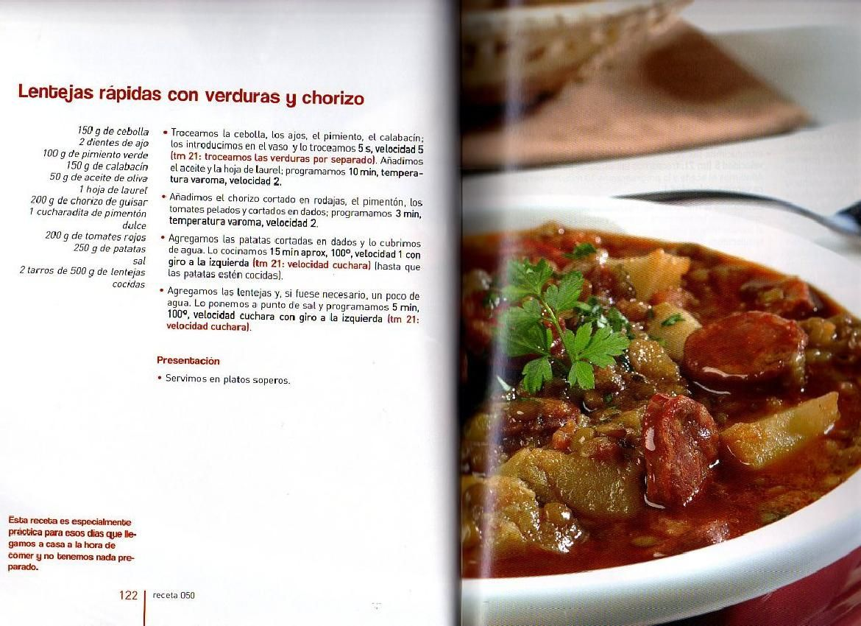 Lentejas Rápidas Con Verdura Y Chorizo Archivo De Recetas