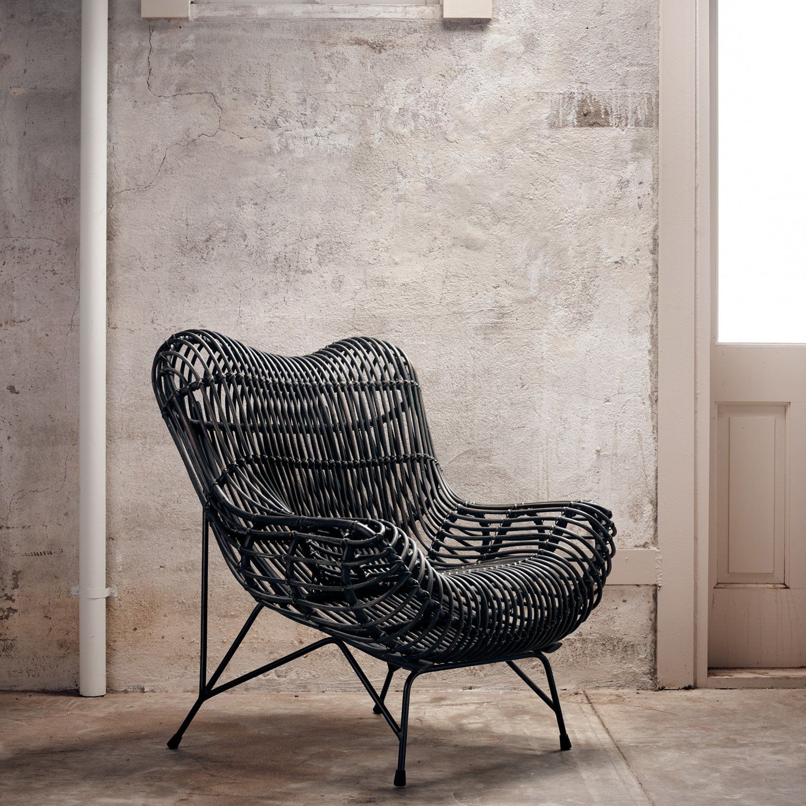 Four hands wicker occasional accent chair from hayneedle