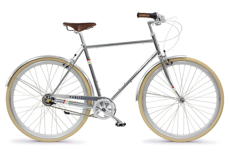 Public D8i Chrome Special Edition Commuter Bike Bike Chrome