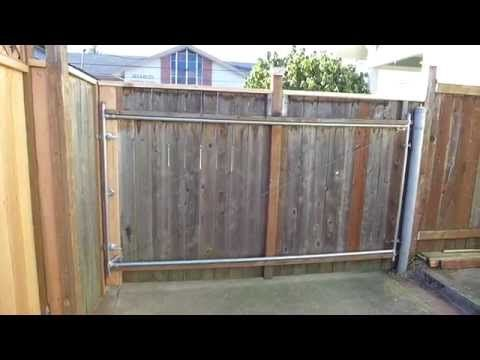 Driveway Gate Wooden Double Wheels Easy How To Build