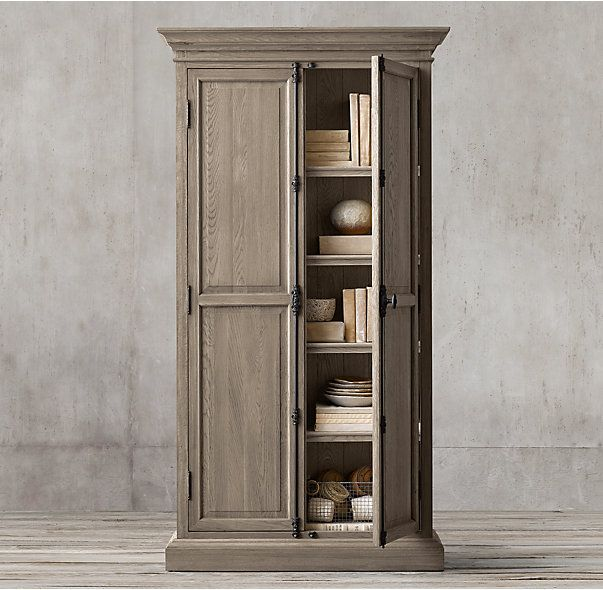 French Panel Double-Door Cabinet | Armoires | Pinterest | French ...