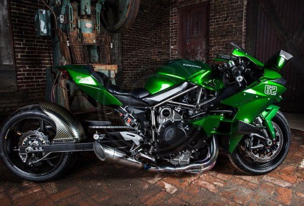 Rickey Gadson S 300 Horsepower Supercharged Kawasaki H2 Part Of