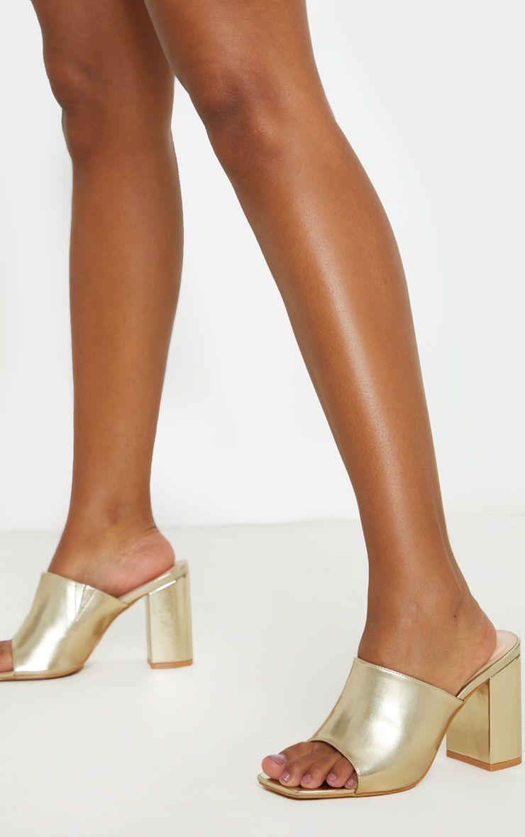 Chunky Block Heel Mule Sandal