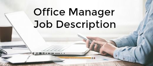 Office Manager Job Description  Job Description And Easy