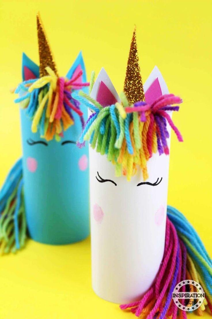 DIY Unicorn Craft Using Toilet Tubes · The Inspiration Edit #unicorncrafts